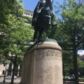 Brigadier General Pulaski (1748-1779). Freedom Plaza. Polish war hero in the American Revolutionary War. He died in battle 31 years old