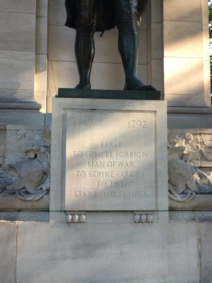 John Paul Jones monument inscription