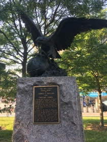 """The Bex Eagle"" Freedom's symbol placed at Pershing Park"