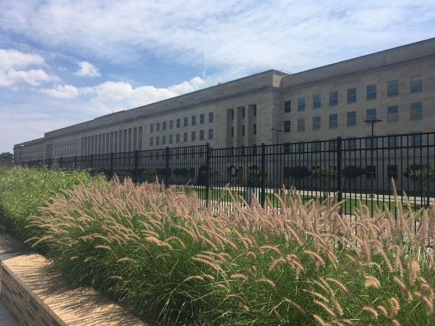Passing The Pentagon on the path to the Pentagon Memorial