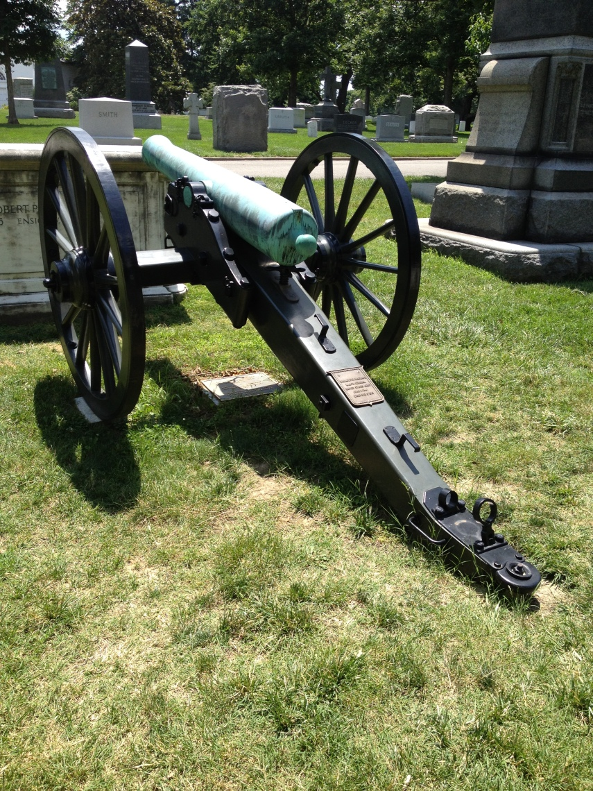 Arlington National Cemetery, a canon as a grave stone from the  Civil war