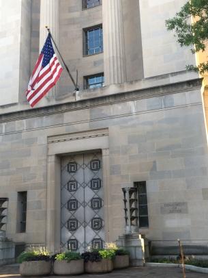 Washington DOJ or Department of Justice at Pennsylvania Avenue