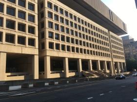 "Washington FBI Building in ""the Brutal Style"". The Penn Quarter."