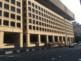 "Washington FBI Building in ""the Brutal Style"". The Penn Quarter."