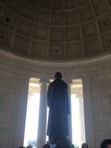 Jefferson Memorial. The bronze statue by Rudulph Evans