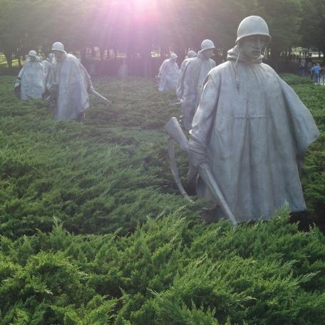 Soldiers on patrol in the Korean war