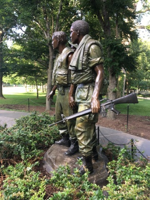 The Vietnam three Soldier Statue, sculptured by Frederick Hart 1984