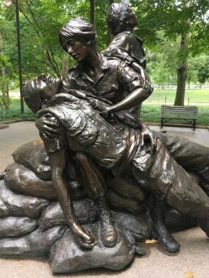 The Vietnam Women's Memorial. Designed by New Mexico sculptor, Glenna Goodacre.