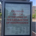 A bus stop poster in the DC capitol area on The Declaration of Independence document shown in The NationalArchives