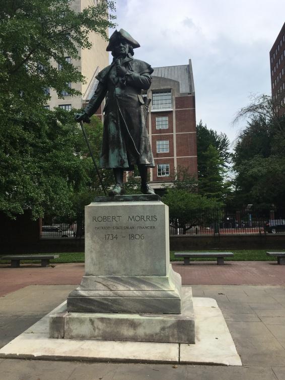 Statue of Robert Morris (1734-1806) Walnut Street