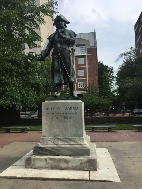 Statue of Robert Morris (1734-1806) Walnut Street