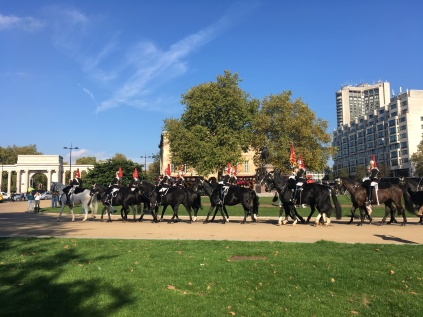 The Horse Guard passing through Wellington Arch
