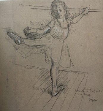 Little girl practicing in the barre 1880
