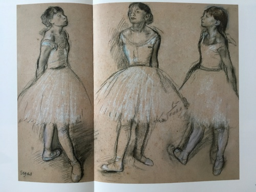 Three studies of Marie in the fourth position