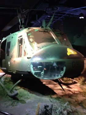 Display with a HUEY helicopter that played a major role in the Vietnam War The National Museum of American History