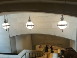 One of the stairways inside the Capitol