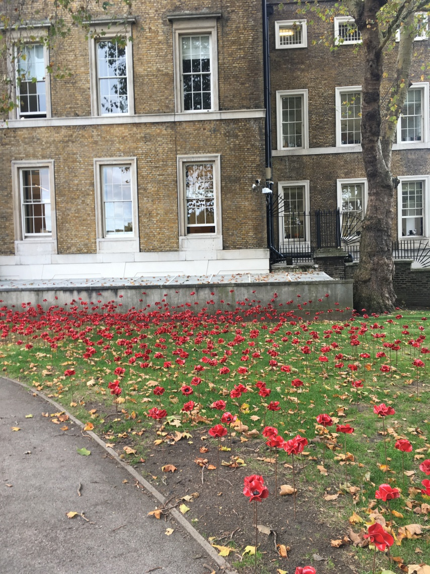 Imperial war museum in London Weeping Poppies