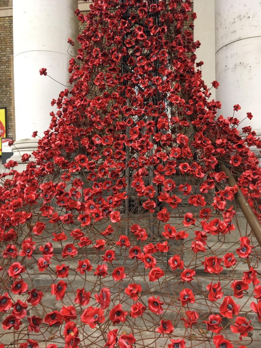 Imperial war museum in London Weeping Poppies