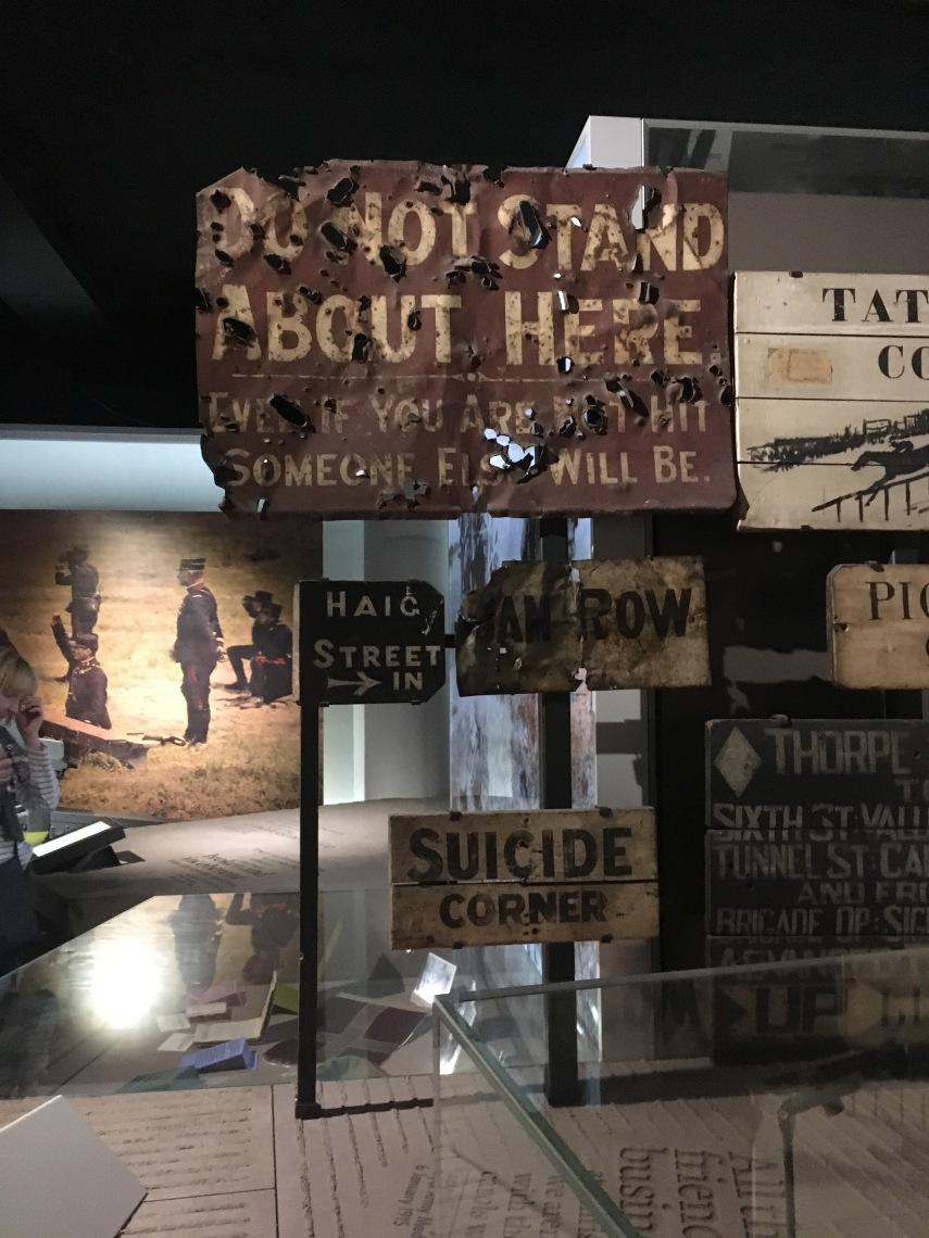 Imperial war museum in London exhibition on WWI.