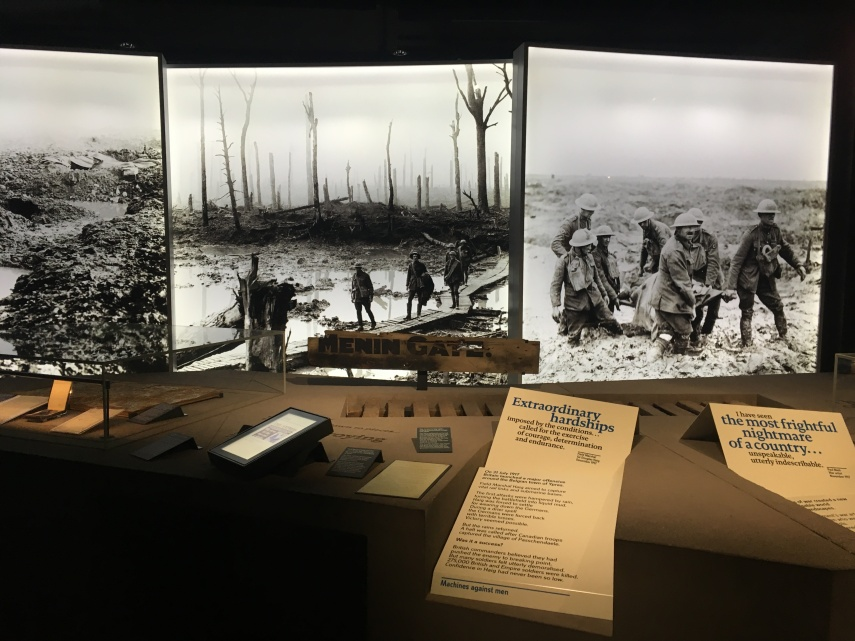 Imperial war museum in London exhibition on WWI
