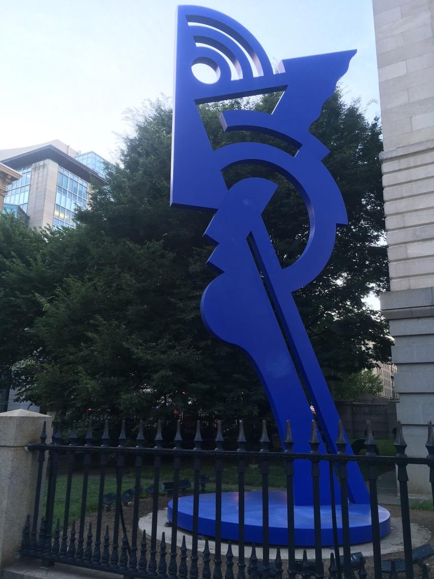 Memorial 9/11 Roy Lichtenstein at The National Portrait Gallery in Washington, D.C.