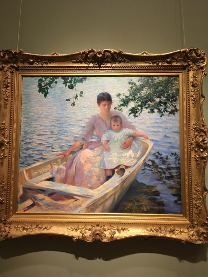 Edmund Tarbell (1862-1938) Mother and Child in a Boat
