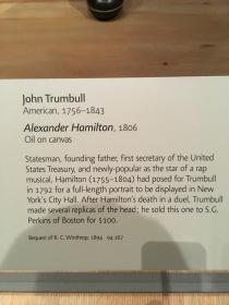Alexander Hamilton 1806 by John Trumbull (1756-1843)