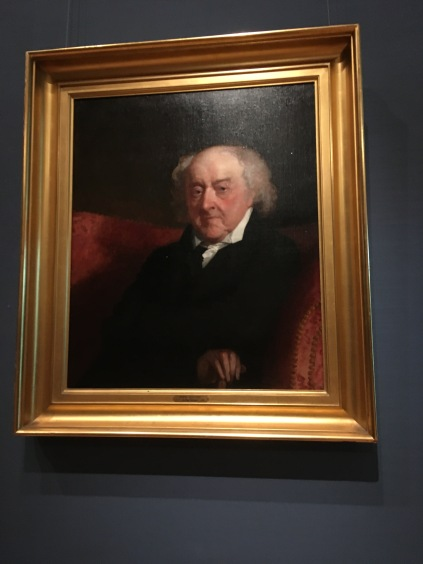 John Quincy Adams almost ninety years old 1823, painted by Gilbert Stuart