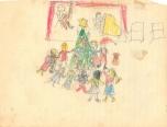 Christmas drawing 1958