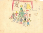 Christmas drawing 1958