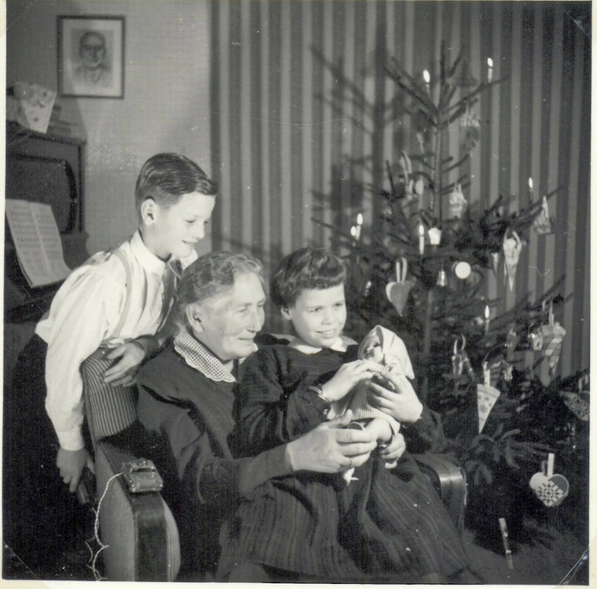 Christmas with our grandmother 1956