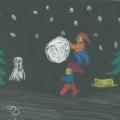 Julemotiv på sort1958