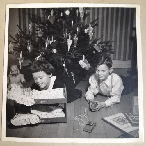 We were so happy for our presents Christmas Eve 1957