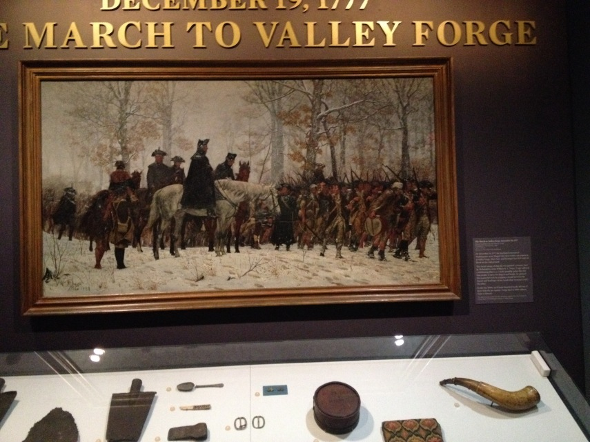 The March to Valley Forge, December 19, 1777, painted by handicapped William B.T. Trego.