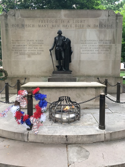 Tomb of the Unknown Revolution Soldier, Washington Square Philadelphia