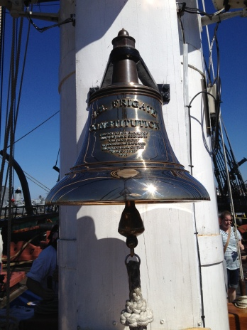 USS Constitution at Charlestown Navy Yard. The ship bell