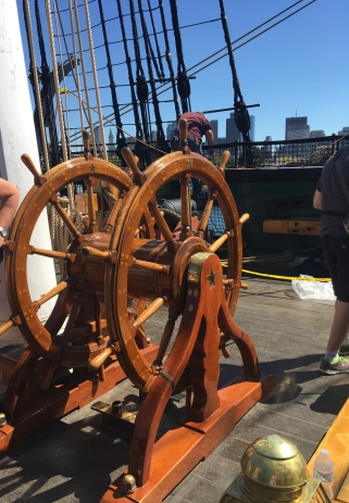 The rudder at USS Constitution