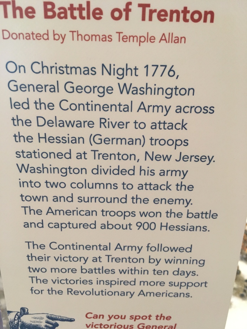 A display of The Battle of Trenton