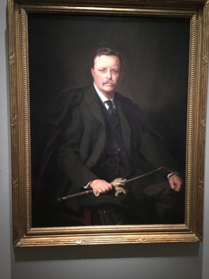 Theodore Roosevelt painting at the National Portrait Gallery in Washington