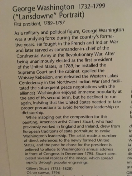 Description of the painting of George Washington