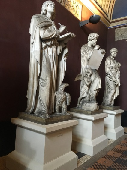Some of the twelve apostles in plaster casts