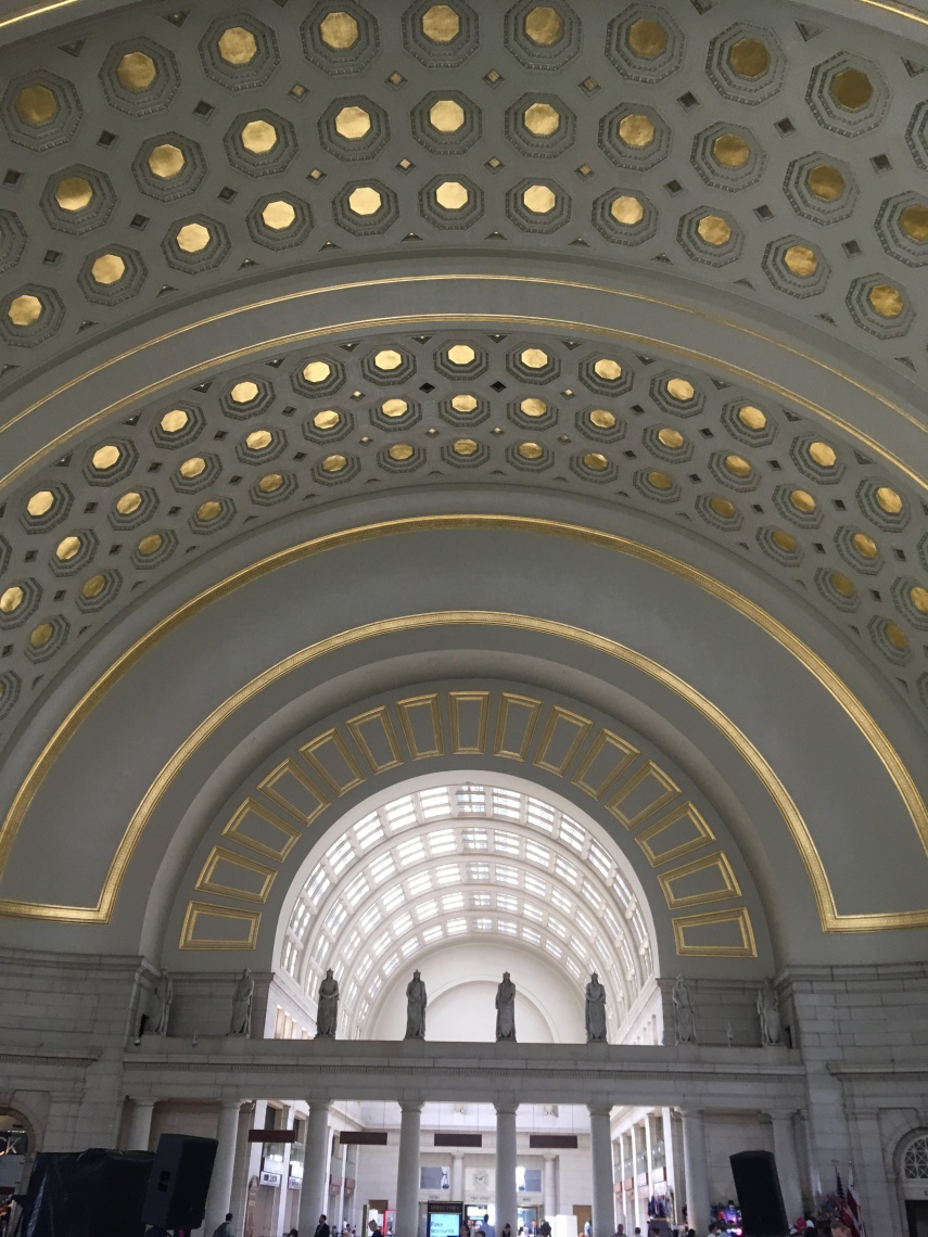 The arch ceiling at the Union Station