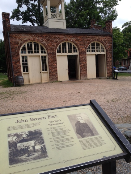 "The story of the fire-engine house ""The John Brown Fort"". It survived the Civil War, was moved to Chicago in 1891 and finally back in Harpers Ferry in 1968"