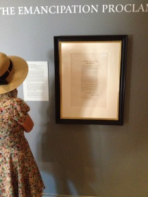 Reading about the Declaration of Independence at The Jefferson Museum at Monticello