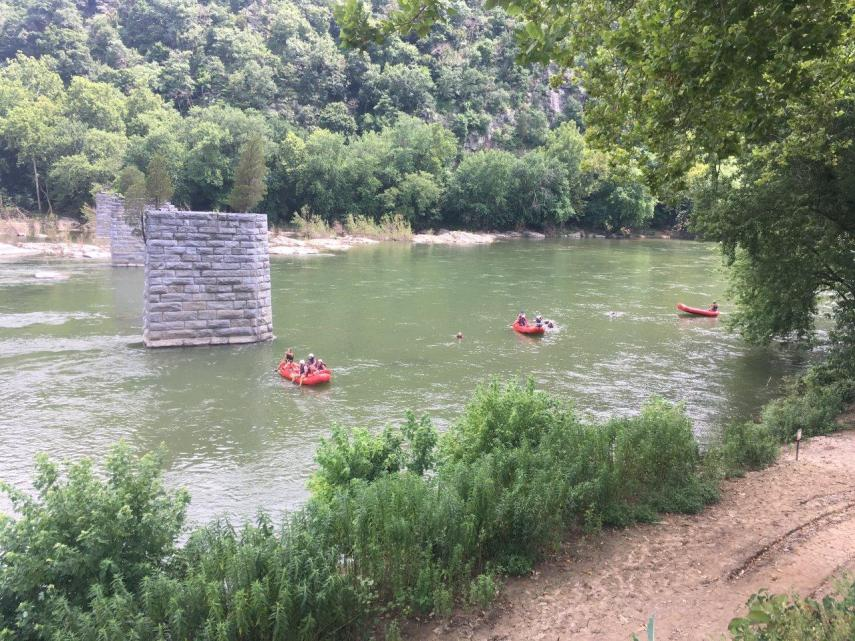 Active holiday on the river at Harpers Ferry
