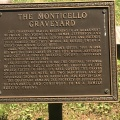 The sign explaining the MonticelloGraveyard