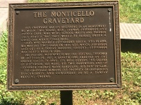 The sign explaining the Monticello Graveyard