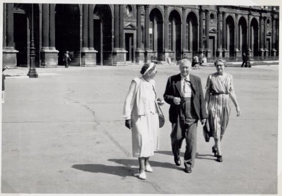My grandparents at Rue de Rivoli in Paris 1950