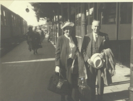 The Paris 1950 trip ends at the train station in their home town
