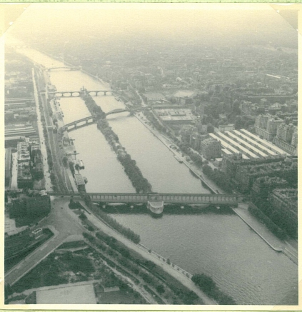 A view from the tower of Notre Dame 1949